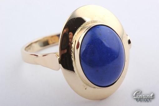 Ring mit Lapis Lapisring in aus 585 er 14kt 14 Karat Gold Ring Lapisringe