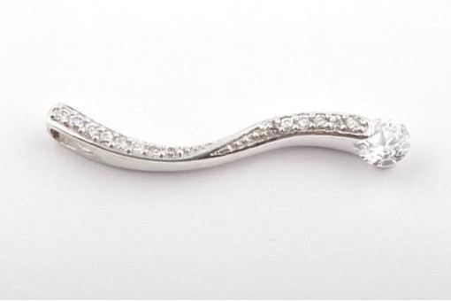 Anhänger in aus 925 er Sterling Silber mit Zirkonia Länge 3,6 cm