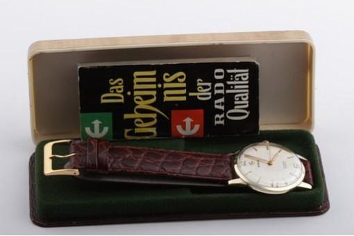 Selten! Rado in 585 er Gelbgold Handaufzug Ref. 10584B Papiere Box von 1961