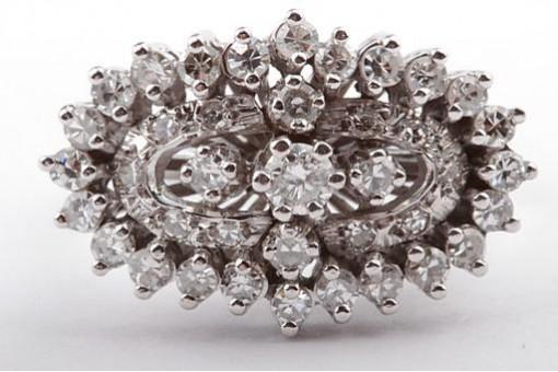 Brillant Diamant Ring mit Brillanten 1,0ct in aus 585 Weißgold Größe Gr58