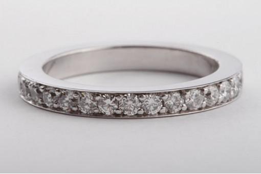 Memory Brillant Diamant Ring 750 Weißgold mit Brillanten Memoire Gr52