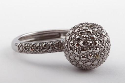 Ring in 925 er Sterling Silber mit Markesiten Größe 58