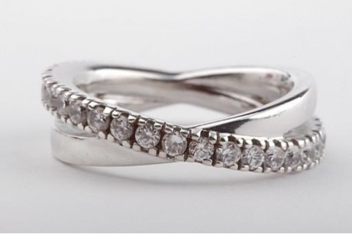 Ring in 925 er Sterling Silber mit Zirkonia Größe 56